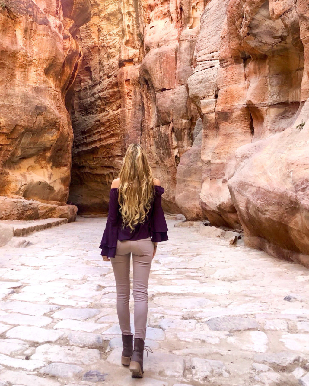 jordanie petra canyon