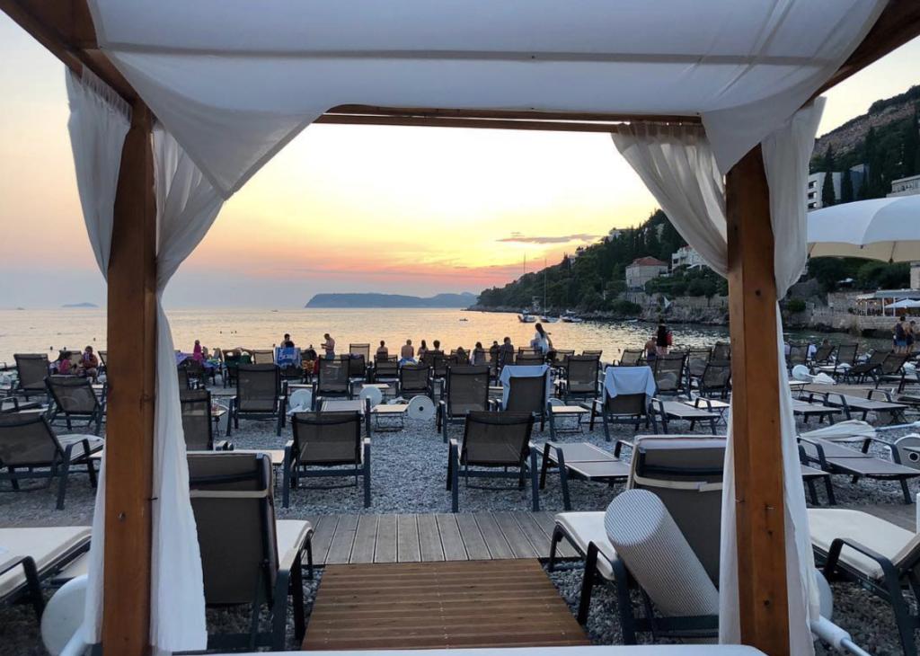 vue depuis la plage dubrovnik