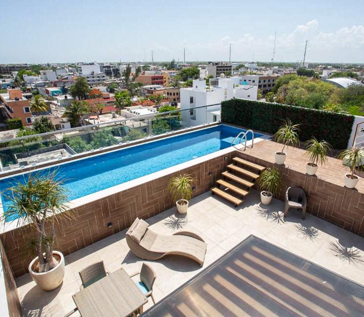 piscine rooftop playa del carmen