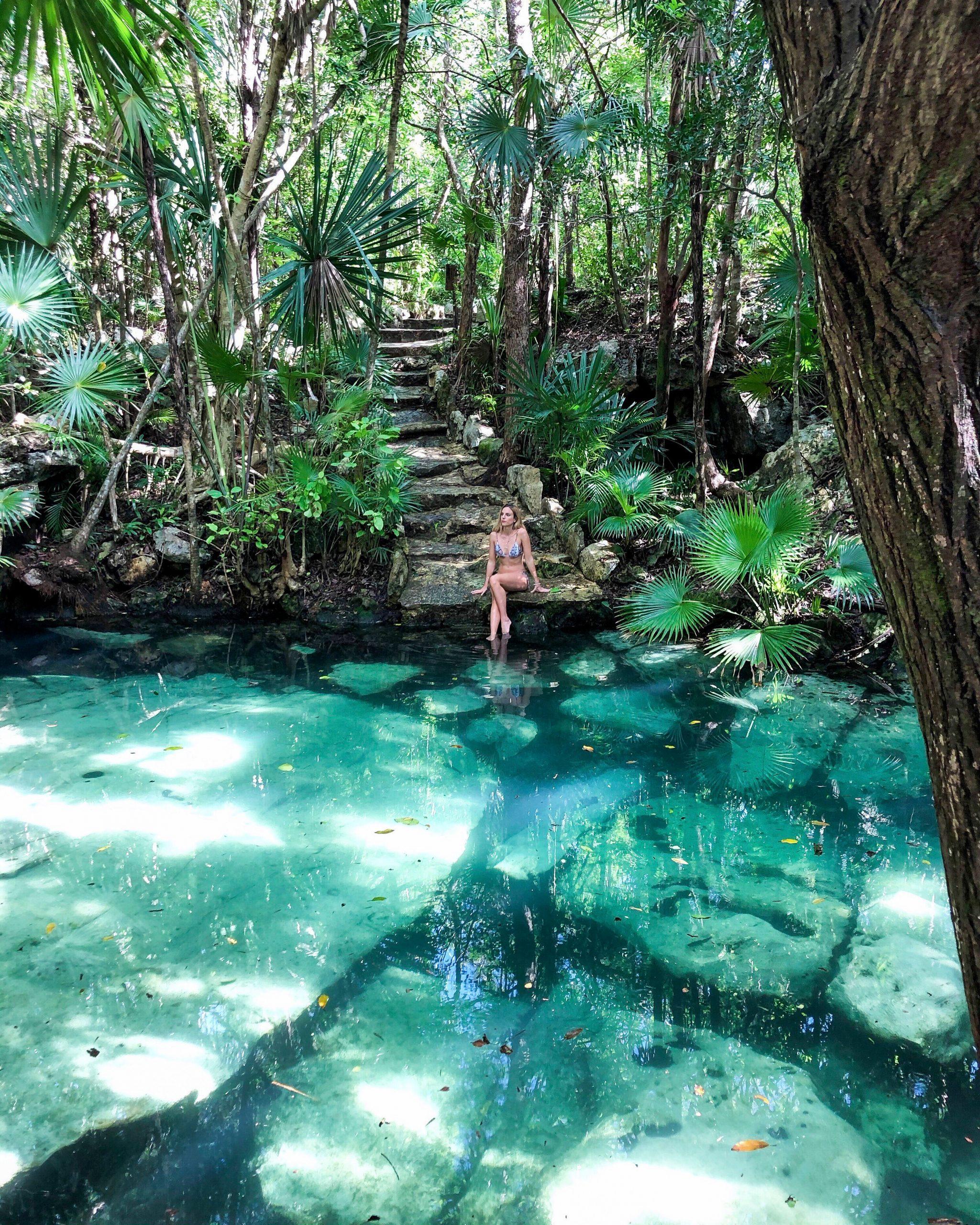 cenote azul yucatan playa del carmen