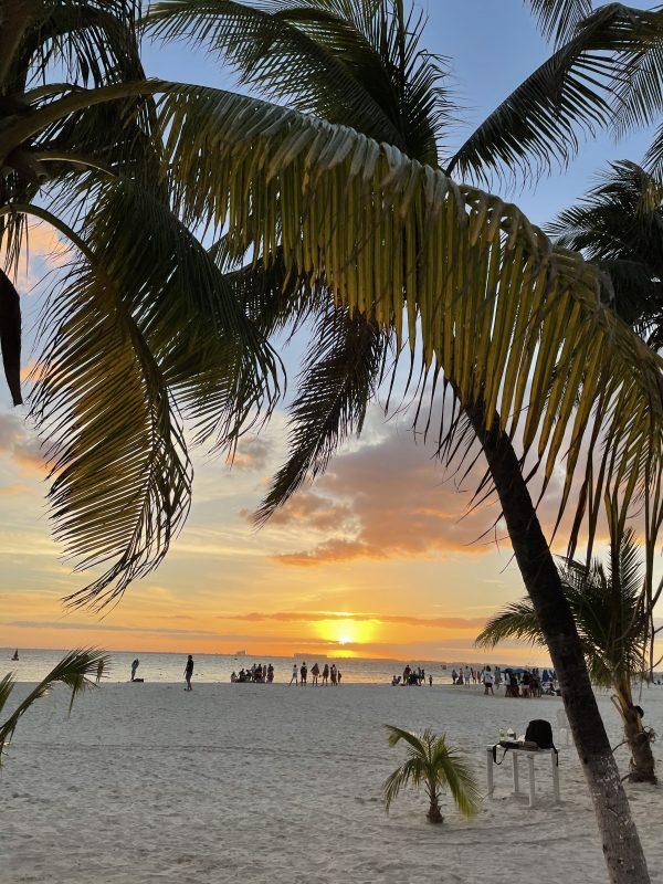 coucher de soleil isla mujeres
