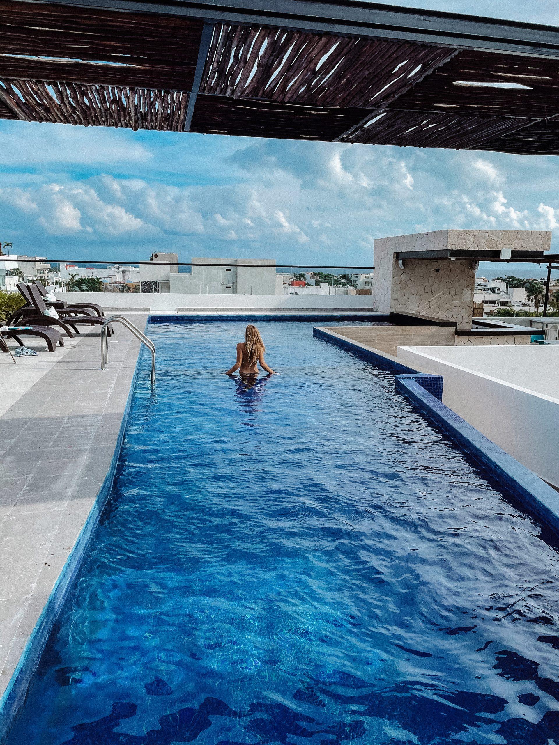 piscine hotel rooftop playa del carmen