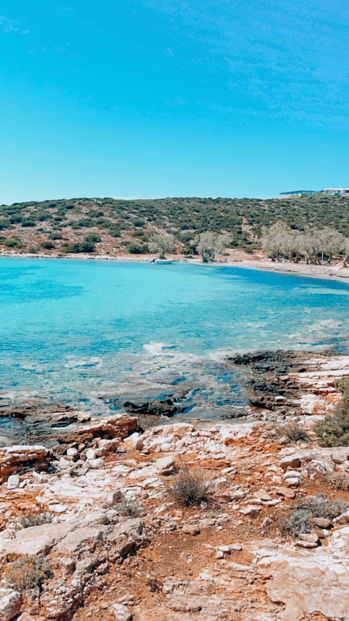 plage bleue à paros